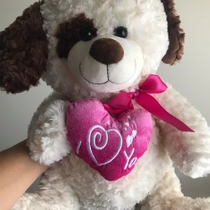 Heart dog plush
